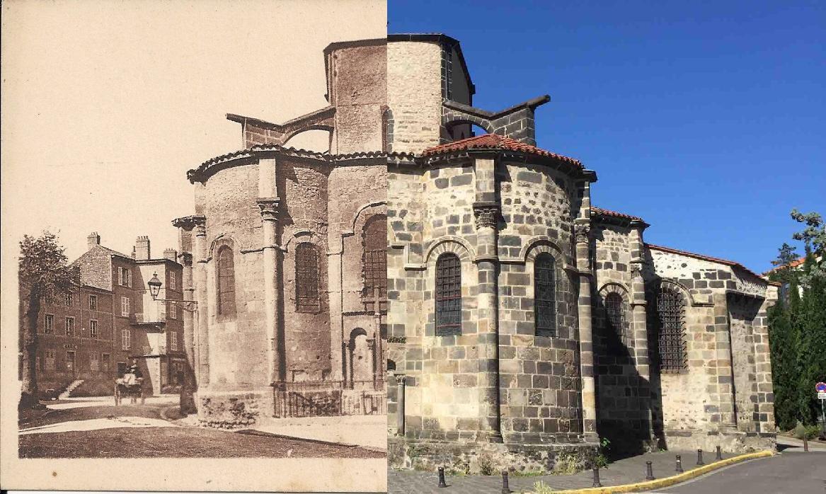 Chamalières - L'église (XIIème siècle). L'abside.