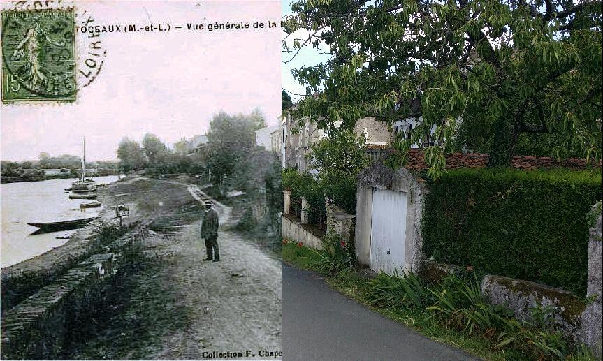 Champtoceaux la rivi re carte postale ancienne et vue - Port de bouc d hier et d aujourd hui ...