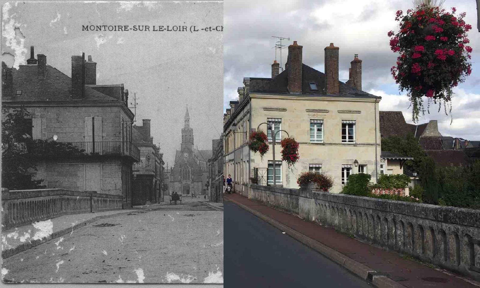 Montoire-sur-le-Loir - Le pont et la rue Ronsard