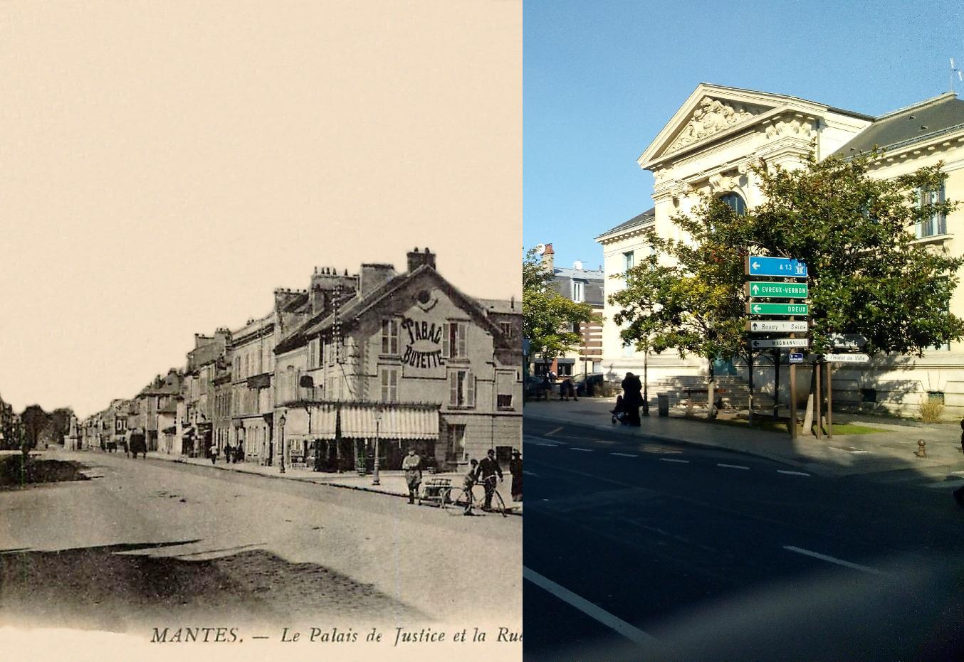 Mantes-la-Jolie - Le Palais de Justice rue de la république.
