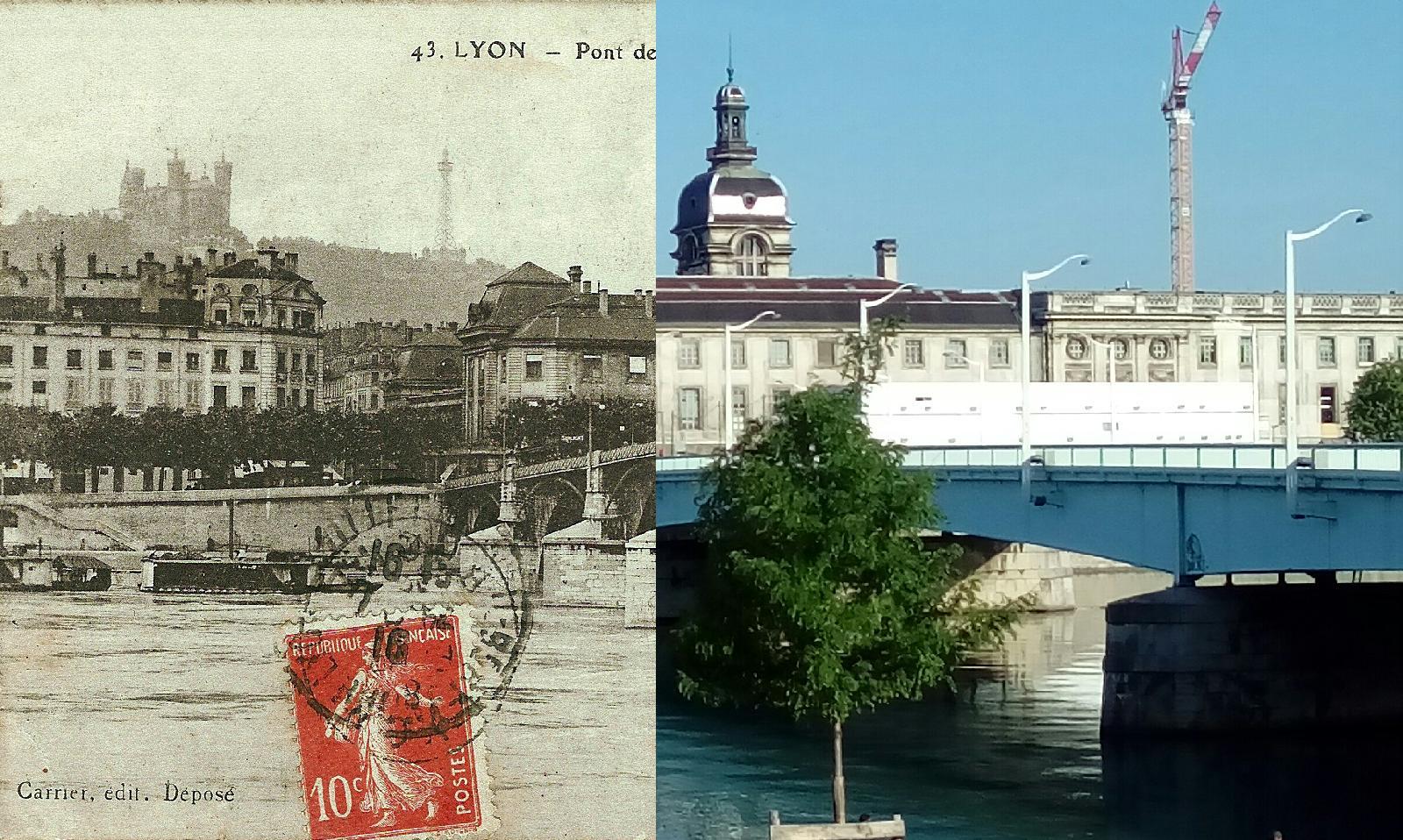 Lyon - Lyon- Pont de la Guillotière- l'Hôtel-Dieu