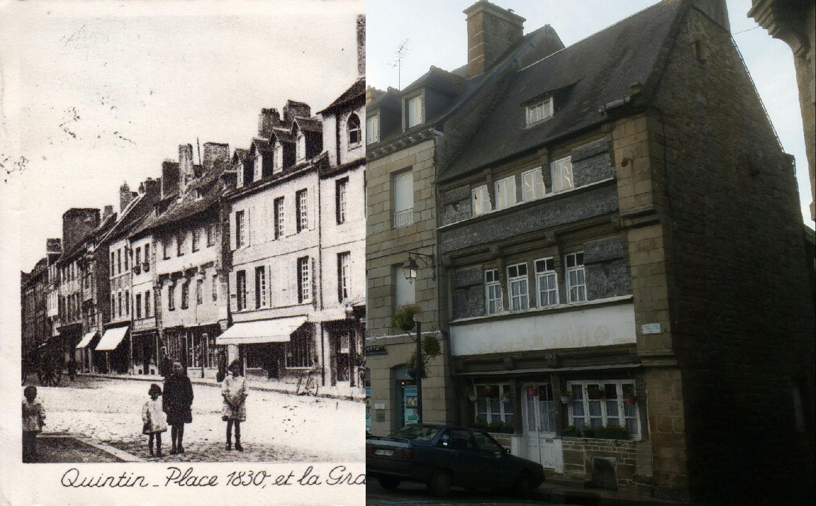 Quintin - Quintin - Place 1830,et la Grande-Rue