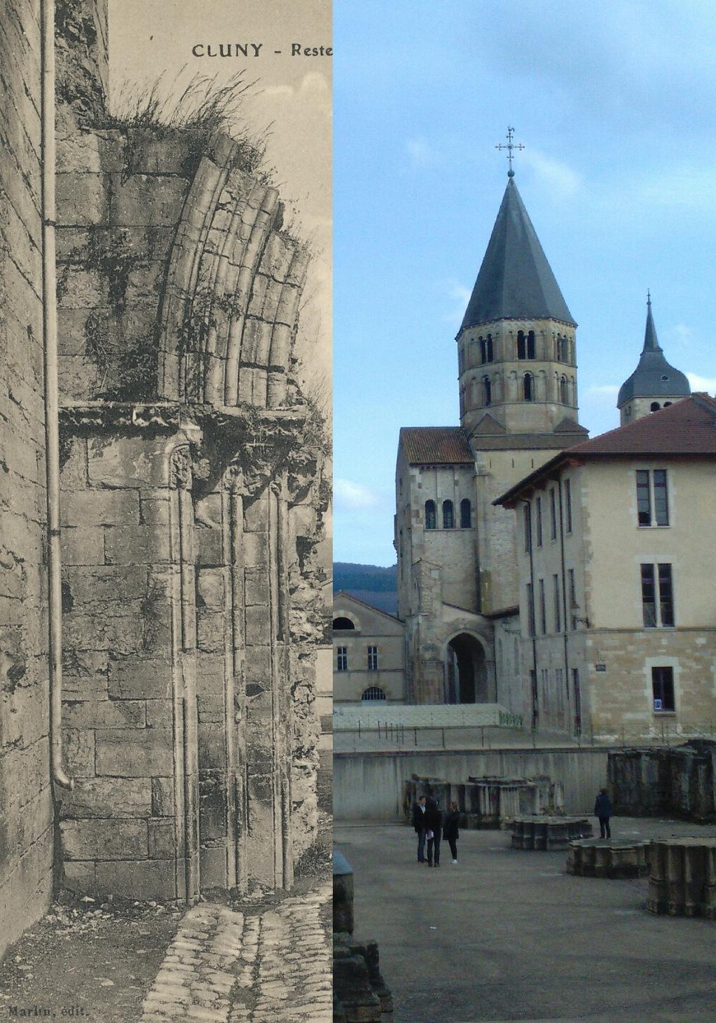 Cluny - Cluny. Restes du portail de l'ancienne abbaye.
